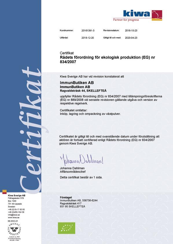 Eko certifiering